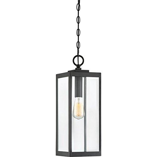 Quoizel WVR1907EK Westover Modern Industrial Outdoor Mini Pendant Ceiling Lighting, 1-Light, 150 Watt, Earth Black (21