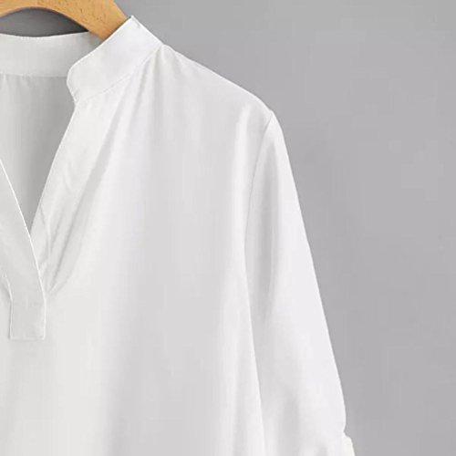 Cuello Blusa V Camiseta Sólidas De Tres Irregular Covermason Para O8qrwO7