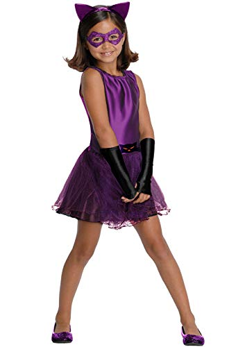DC Super Villain Collection Catwoman Girl's Costume with Tutu Dress