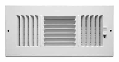 - Truaire C103M 12X04(Duct Opening Measurements) 3-Way Supply 12-Inch by 4-Inch Sidewall or Ceiling Register Grille, White