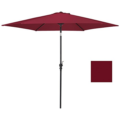 Umbrella New 10 FT Patio Offset Hanging Outdoor Market Color - The Town Center Jacksonville