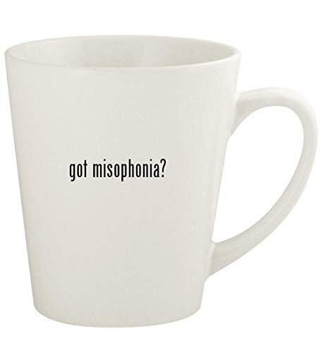 got misophonia? - 12oz Ceramic Latte Coffee Mug Cup, White