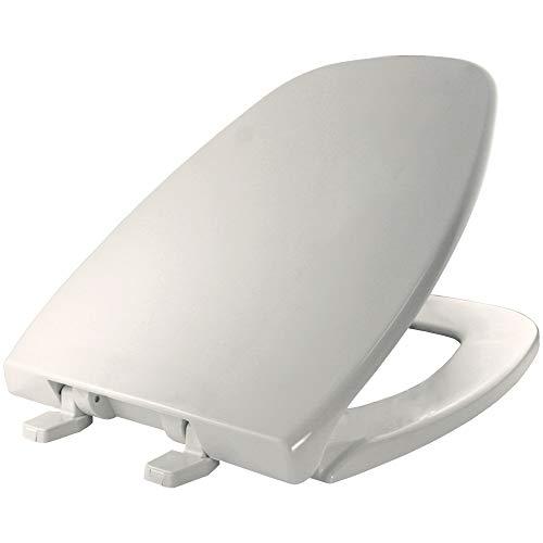 Bemis 1240205 000 Eljer Emblem Plastic Elongated Toilet Seat, White
