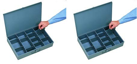 - Durham 119-95 Prime Cold Rolled Steel Large Adjustable Compartment Vertical Box, 12-5/32