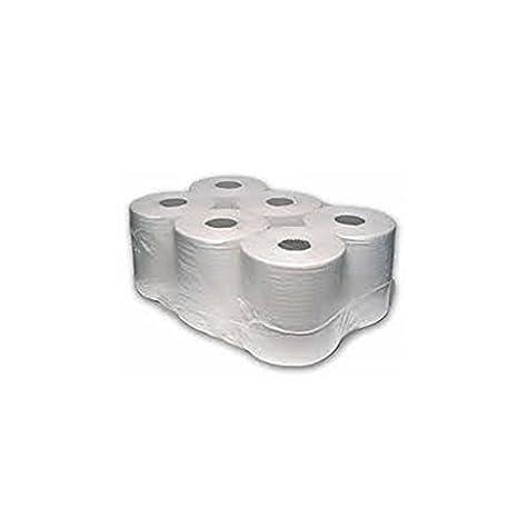 Thali Outlet® – 12 x blanco centro alimentación rollos mano toallas de papel de 2