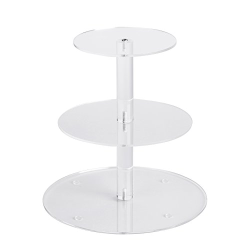 2 Tier Cake Stand - YestBuy 3 Tiers Round Party Wedding Birthday Clear Tree Tower Acrylic Cake Stand (3 Tier Round(4.7