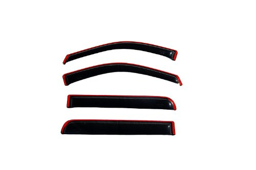 Auto Ventshade 194446 Smoke in- in-Channel Ventvisor Side Window Deflector, 4-Piece Set for 2013-2019 Buick Encore, 2015-2019 Chevrolet Trax