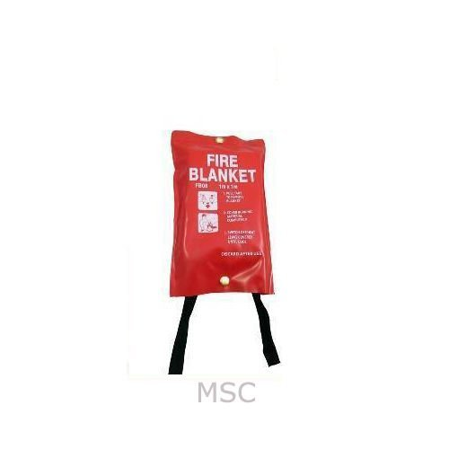 FIRE BLANKET 1M x 1M QUALITY QUICK RELEASE LARGE - FULLY CE APPROVED, RED CASE MSC