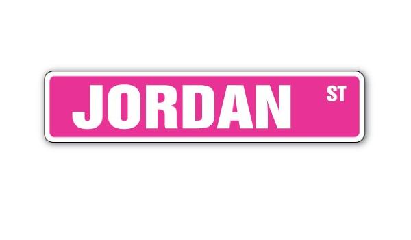 JORDYN Street Sign Childrens Name Room Decal Indoor//Outdoor