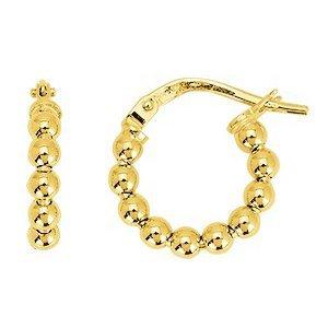 So Chic Bijoux © Boucles d'oreilles Femme Créoles Boules Lisses 10 mm Or Jaune 750/000 (18 carats)