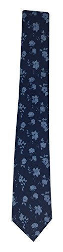 Theory Men's Floral Chambray Tie (Navy Floral Chambray) by Theory