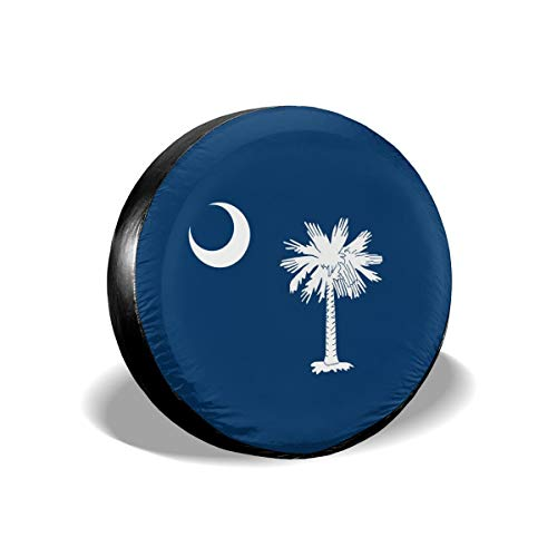 ULNL South Carolina US State Flag Spare Wheel Tire Cover Funny Waterproof Tire Protectors Novelty 16 Inch