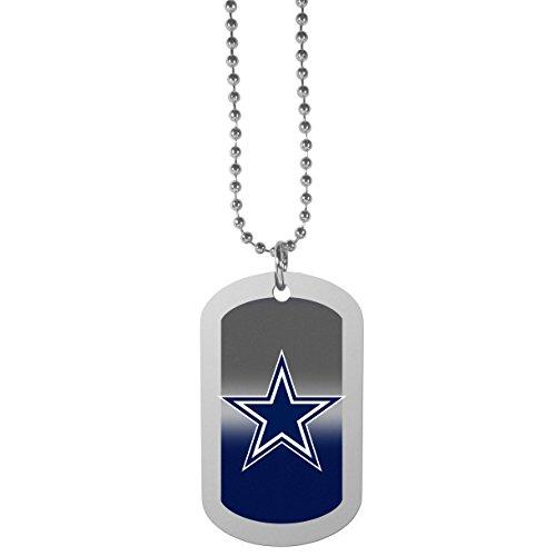 """NFL Dallas Cowboys Team Tag Necklace, Steel, 26"""""""