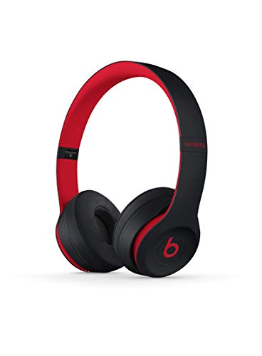 Beats Solo3 Wireless On-Ear Headphones - The Beats Decade Collection - Defiant Black-Red ()