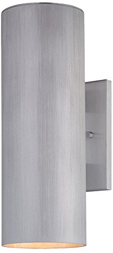 Minka Lavery 72502-A144-PL 2-Light Skyline Wall Bracket, Brushed Aluminum Finish