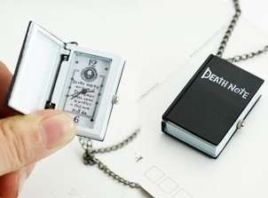 Death Note Notebook L necklace post watch Cool!
