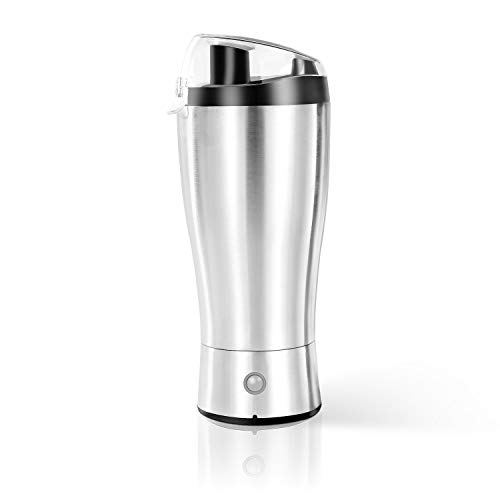 Vacuum Insulated Stainless Steel Tumbler, 12oz Double Walls Self Stirring Coffee Mug for Office,Travel and ()