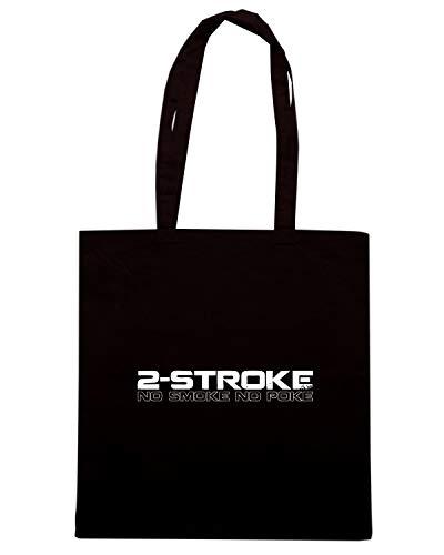BIKER POKE TB0156 Shirt SMOKE STROKE NO Speed Nera NO Shopper Borsa g4cyFWvFH