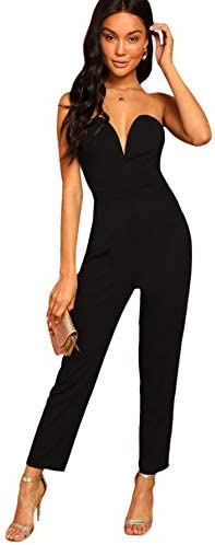 Romwe Sweetheart Strapless Stretchy Jumpsuit product image