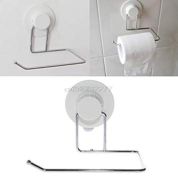 Amazon.com: Soporte de papel higiénico con ventosa para baño ...