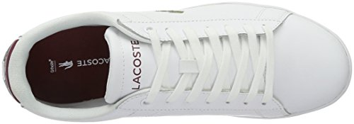 Lacoste Carnaby Evo G316 7 - Zapatillas Hombre Weiß (Wht/Red 286)