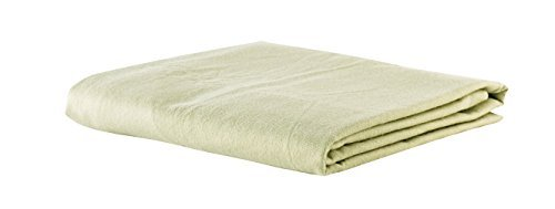 Deluxe Flannel Fitted Massage Sheets by NRG, Set of 3-100% Double Brushed Cotton - 160 GSM, 200 Thread Count - Ultra Soft, Luxurious Linens - Great for Spa, Salon and Massage Tables - Color: Sage by NRG