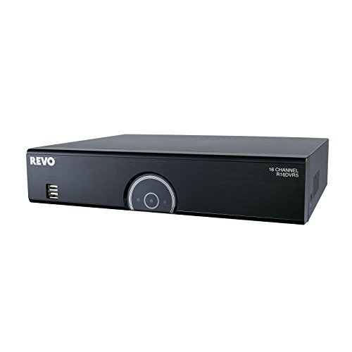 REVO America R16DVR5-2T 16-Channel 2TB 960H DVR with 12 RJ12 Ports and 4 BNC Ports (Black)