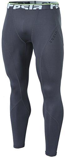 Tesla TM-YUP33-DGY_Medium Men's Thermal Wintergear Compression Baselayer Pants Leggings Tights YUP33 - Best Running Tights