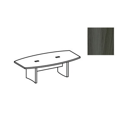 Mayline ACTB8LGS Aberdeen 8u0027 Boat Shape Conference Table, Textured Cherry  Graphite Tf