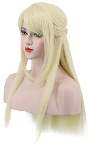 Karlery Women Long Straight Blonde Wig Halloween Costume