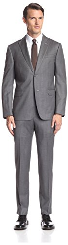 Z Zegna Men's Pinstripe Notch Lapel Suit, Grey, 54 for sale  Delivered anywhere in USA