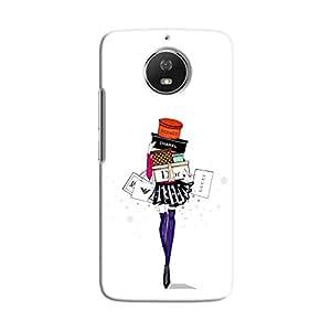 Cover it up Shopping Girl Motorola Moto G5S Hard Case - White