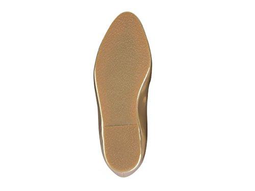 Subibaja Olivia Mommy & Me Zapatos - Zapatos De Tirantes Con Punta De Oro Para Mujeres