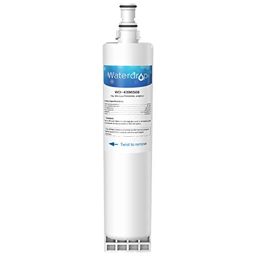 Waterdrop 4396508 NSF 42&372 Refrigerator Water Filter, Compatible with Whirlpool 4396508, 4396510, 4392857, Kenmore 46-9010, NLC240V, EveryDrop Filter 5, EDR5RXD1, PUR W10186668 (Ksc24c8eyy02 Water Filter)
