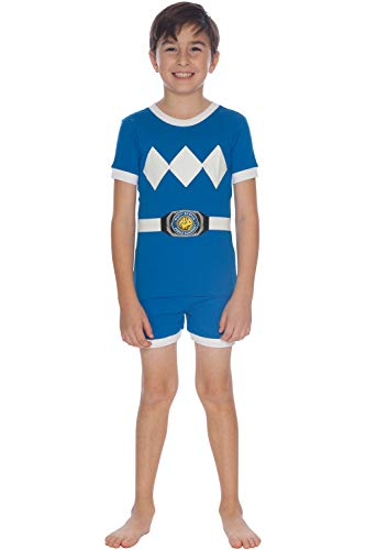 (Power Rangers Cotton Costume Pajama Short Set, Blue,)