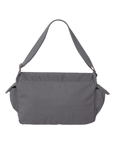 Tenacitee Born in 1978 - Aged Like a Fine Wine Grey Brushed Canvas Messenger Bag by Tenacitee (Image #2)