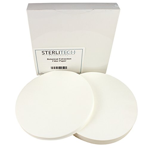Botanical Extraction Slow Cellulose Filter Paper, 18.5cm, 100/Pk by Sterlitech