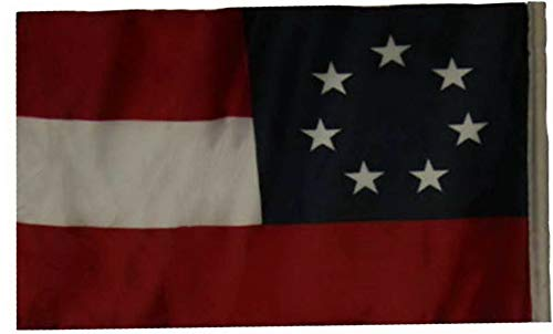 Mikash 12x18 12x18 First National Stars and Bars 7 Sleeve Flag Garden | Model FLG - 2165