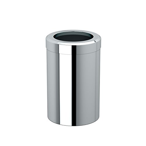 Gatco 1910 Waste Can Modern Bathroom, Kitchen, Office Trash Bin Round ()