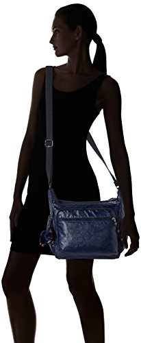 35 5 H Bleu Femme B cm Bandoulière 5x30x18 Indigo T Gabbie Sacs x Kipling Lacquer x IqwCH1x