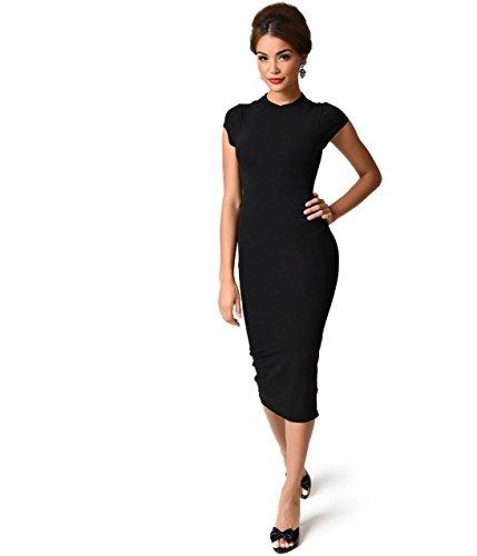 1960s black dress - 8