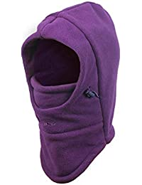 Metable Kids Balaclavas Hat Windproof Face Mask Cover Cap Neck Warmer for Outdoor Sport Ski Snowboarding Cycling (Purple)