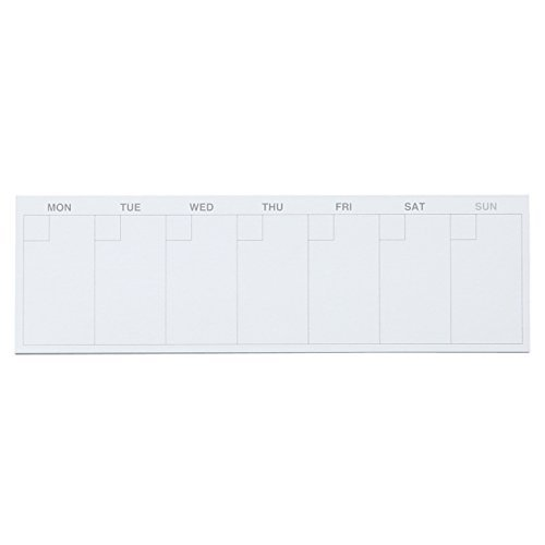 MUJI Free schedule sticky notes 1 week, 35 sheets