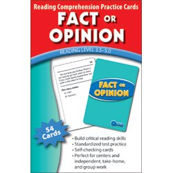 Fact or Opinion Practice Flash Cards