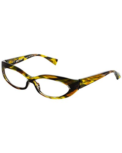 Alain Mikli Womens Women's A01237 Optical - Shaped Faces Oval Frames For