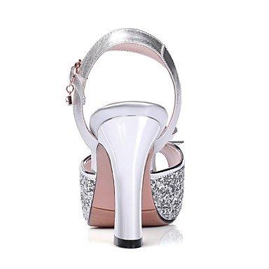 del y Tacón Cuero Oro Purple Plata Noche Boda club Mujer LvYuan Morado Vestido Zapatos Sintético Sandalias Robusto Fiesta wS5Iqvq
