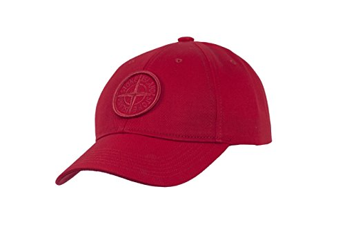 (Stone Island Red Red Compass Logo Men`s Baseball Cap)