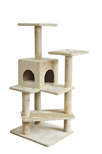 - AmazonBasics Cat Tree with Double Sided Cube, Beige