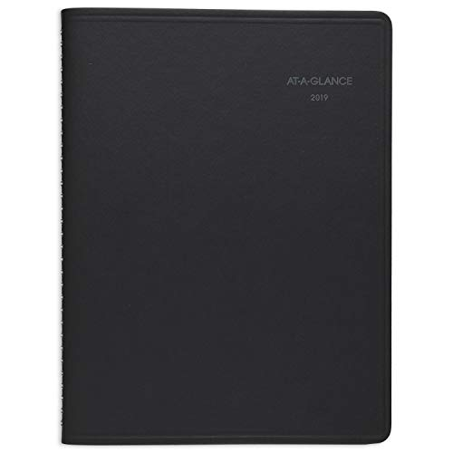 "AT-A-GLANCE 2019 Weekly & Monthly Planner / Appointment Book, QuickNotes, 8-1/4"" x 11"", Large, Black (7695005)"