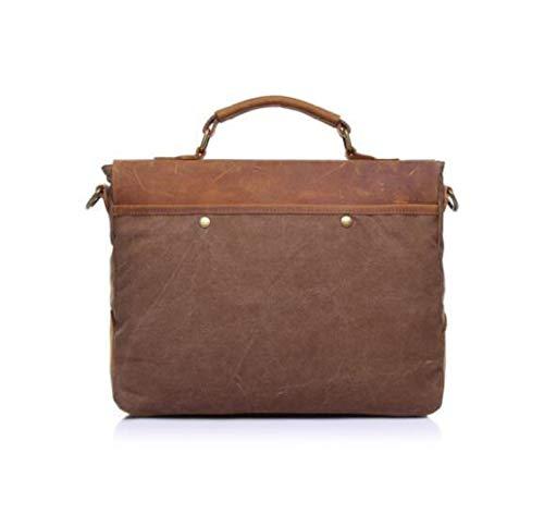 Uomo Handbag Brown Borsa Di Portatile Messenger Postino Bag Vintage TcFlJK3u1